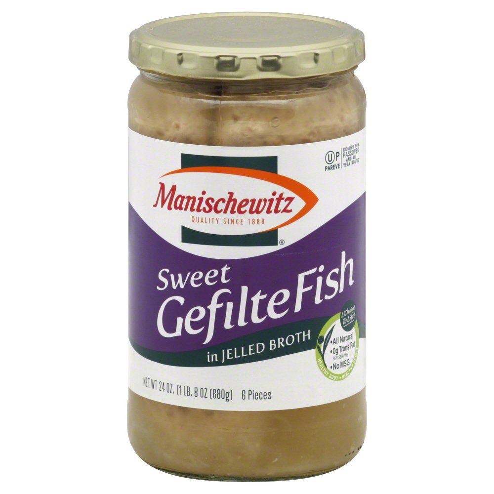 Manischewitz Sweet Gefilte Fish Jelled Broth 24 oz