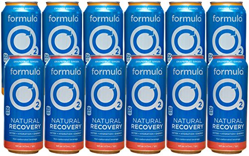 Formula O2 Natural Recovery Drink | Oxygen + Electrolytes + Caffeine | Variety Pack (12-pack)