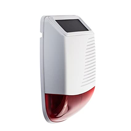 Wireless Solar Sirena de Polietileno g-520r con 120 dB Power Alarma sustituye Has Sirena Accesorios para Alarma pg100 pg500 pd906 y Todos los demás ...