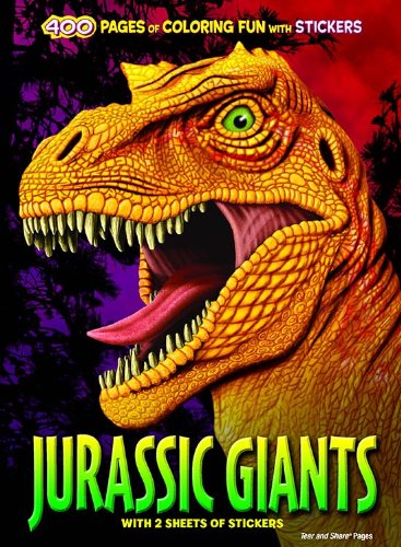 Bendon Jurassic Giants 400 Pages of Coloring Fun with Stickers