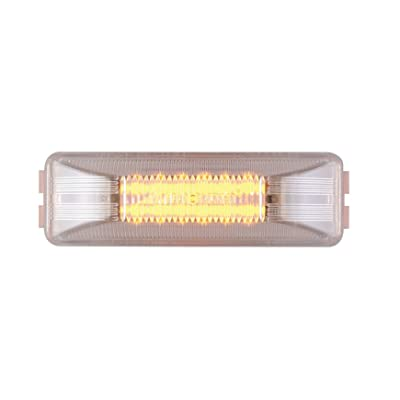 "Maxxima M20350YCL 12 LED Amber 4"" Rectangular Clearance Marker Light: Automotive"