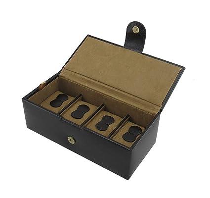 Cordays - Estuche Relojero de Piel para 4 Relojes Caja Organizadora Relojes - Hecho a Mano - en Color Marrón CDM-00001A