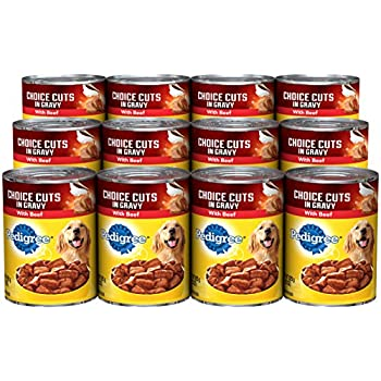 PEDIGREE CHOICE CUTS in Gravy With Beef Canned Dog Food. Choice Cuts Offers Complete Nutrition in a Balanced Dog Food (Pack of 12)