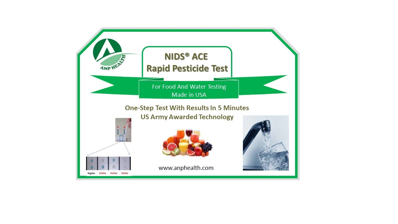 NIDS® ACE Rapid 5 Minute Pesticide, Toxic/Heavy Metal, & Arsenic Test (3 Tests/Pack)