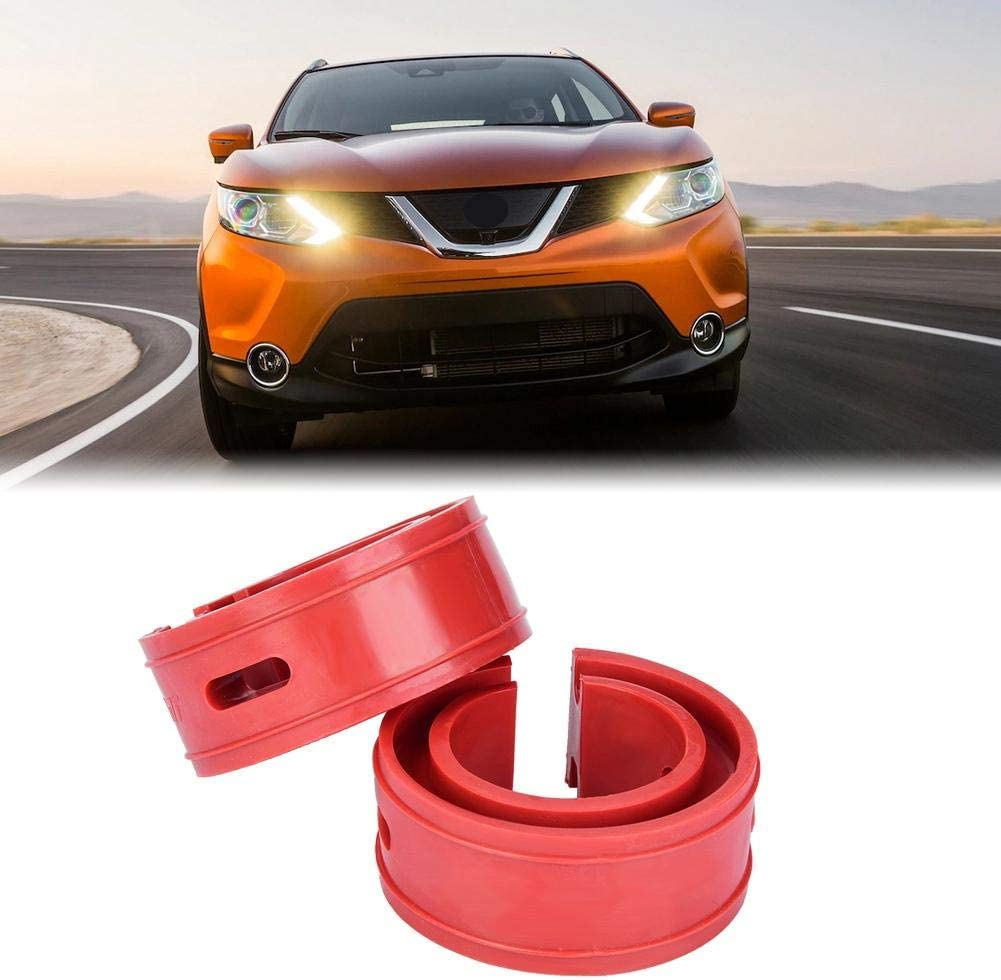 2pc Car Shock Absorber Buffer Spring Bumper Cushion Rosso TPE Type A-F D