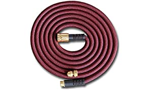 PURE Expandable Garden Hose 50 FT with Spray Nozzle Best Expanding Retractable Water Pipe for Garden Lawn Zero Kink Red Line