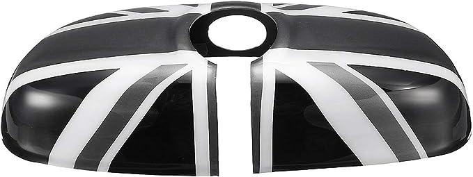 AAlamor R/étroviseur Int/érieur Voiture Miroir Housse pour BMW Mini Cooper F55 F56 F54 F60 Black /& Red