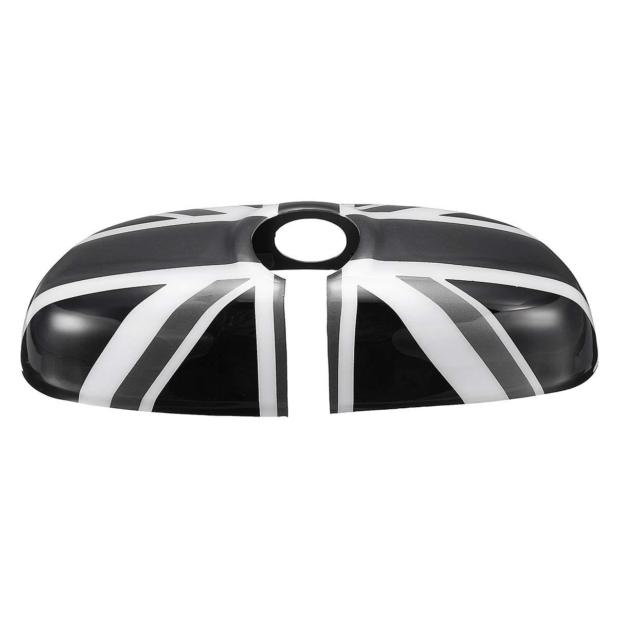 NICOLIE R/étroviseur int/érieur Voiture Miroir Housse pour BMW Mini Cooper F55 F56 F54 F60-noir /& Blanc