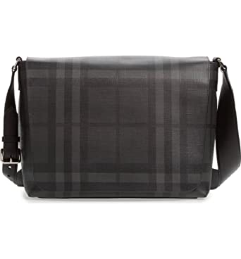 3b74e25e49d Image Unavailable. Image not available for. Color  Burberry Gray Check Messenger  Bag