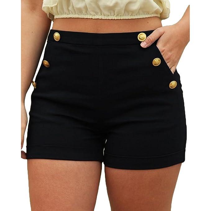 23b1e79af367 Yying Pantalones Cortos De La Cintura Elástico Corta De La Moda 2018 ...