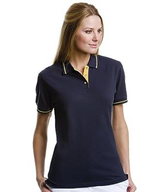 8a3a04870 Kustom Kit Women's St Mellion Tipped Short Sleeve Polo Shirt: Amazon ...