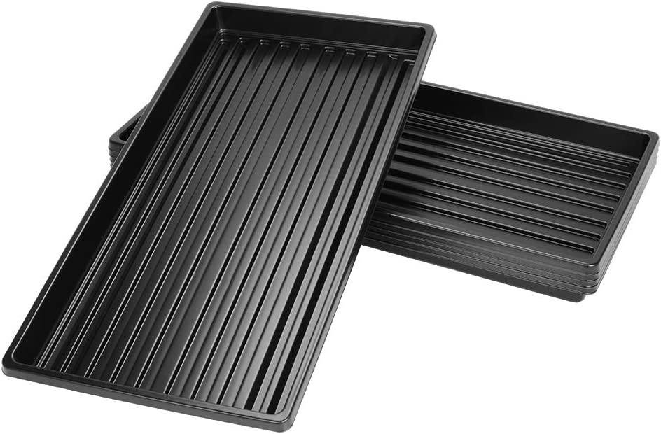J&D 5 Packs Trays, 10 x 20 Inches Propagation Starter Seedling Tray 1020 Plant Growing Trays Without Drain Holes for Plant Germination Microgreens Hydroponic Application, No Holes