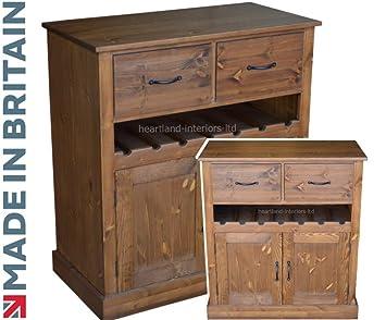Credenza Con Portabottiglie : Heartland pine legno massello credenza a mano e cerata