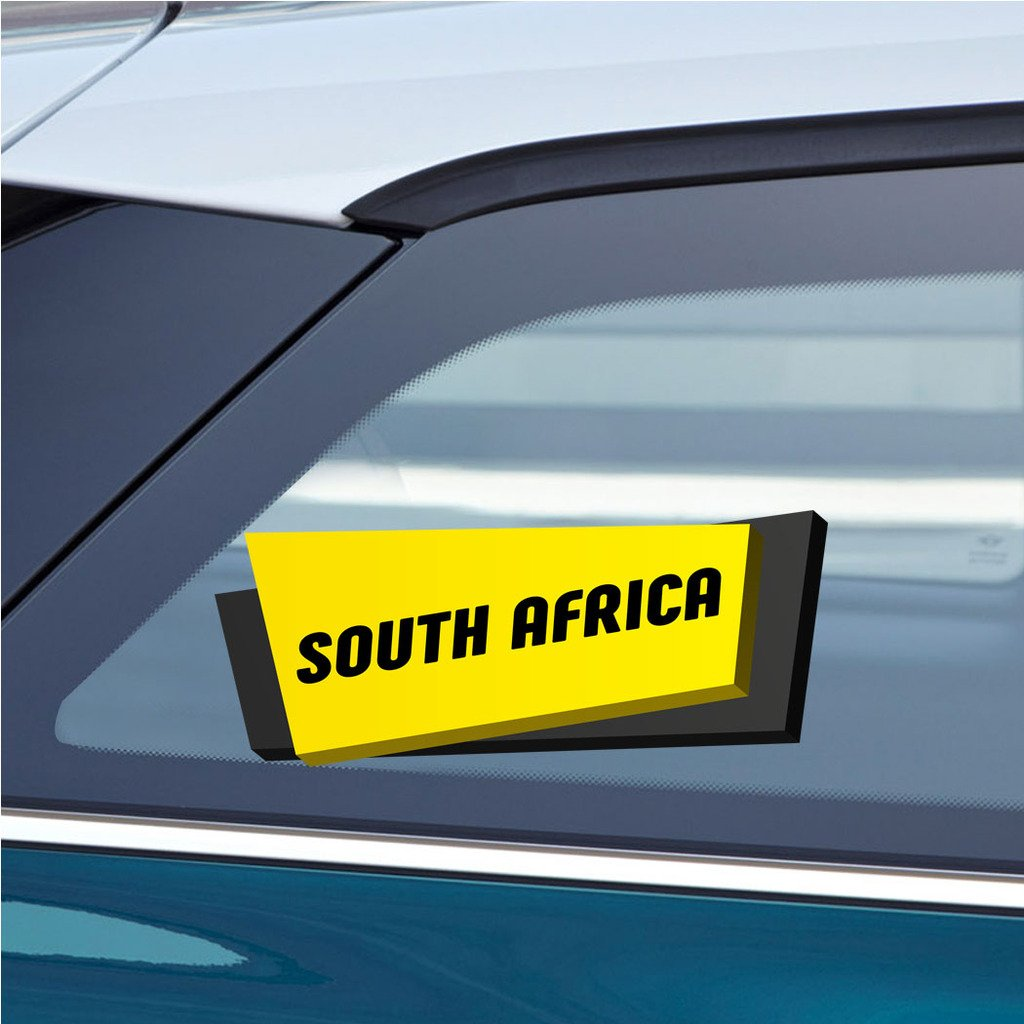Amazon com makoroni south africa sticker decal car laptop wall stciker decal 3by8 small or 4 5by10 5 large automotive