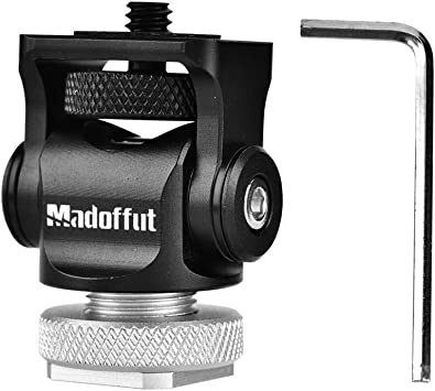 Acouto 360/° Swivel Cold Shoe Mount Adapter Bracket Transfer Base Adapter with 1//4 Screw for Go pro DSLR Camera