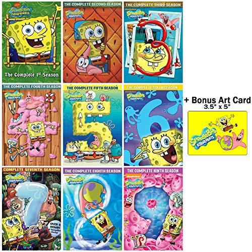Spongebob Series Squarepants (SpongeBob SquarePants: Complete Seasons 1-9 DVD Collection + Bonus Art Card)
