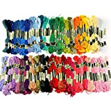 100 Different Colors Cross Stitch Cotton Embroidery Thread Floss Sewing Skeins Kit
