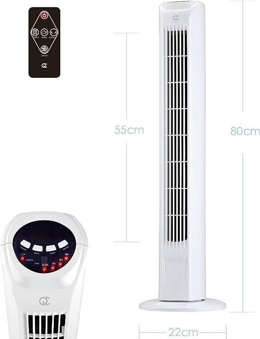 FlinQ Slim Line - Ventilador de torre silencioso con mando a ...