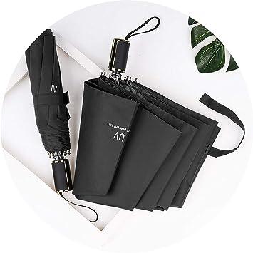 Amazon.com: Parasol de plástico negro plegable de tres ...