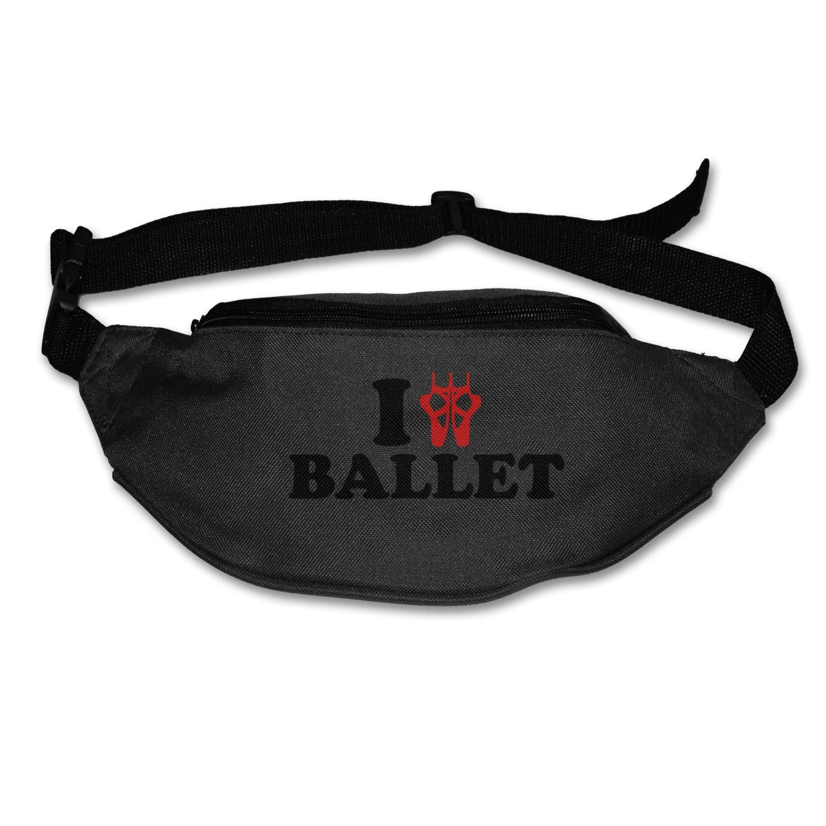 I Ballet Shoes Sport Waist Pack Fanny Pack Adjustable For Travel