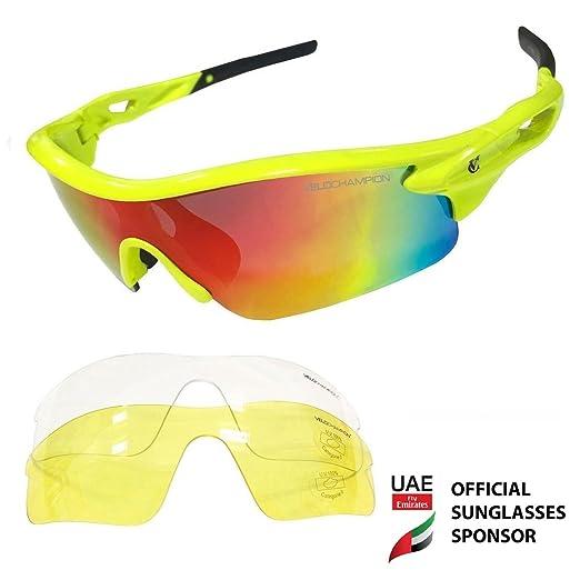 68 opinioni per VeloChampion Warp Cycling Running Sports Sunglasses- (with 3 lens: inc revo