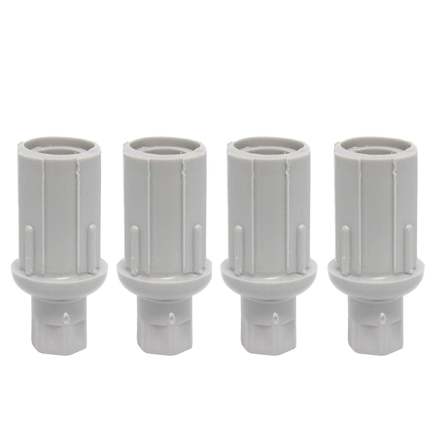 Leyso Set of 4 Plastic Bullet Foot 1'' Adjustable for Stainless Steel 1-⅝'' O.D. Tubing (Plastic) by Leyso