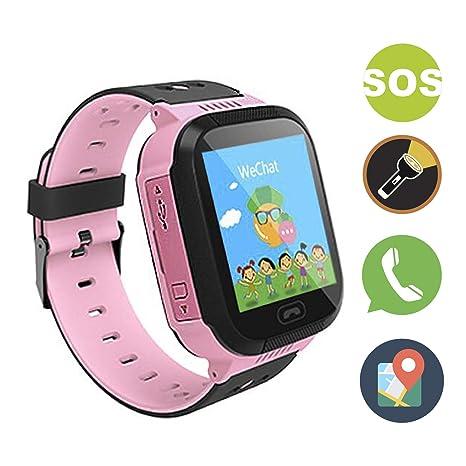 GZJXL Reloj Inteligente smartwatch Que Permite Realizar Llamadas y Enviar Mensajes, con Alarma SOS y