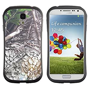 TopCaseStore Hybrid Rubber Case Hard Cover Protection Skin for SAMSUNG GALAXY S4 - Plant Nature Forrest Flower 88
