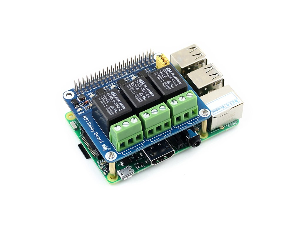 Raspberry Pi Power Relay Board Expansion Board Module for Raspberry Pi A+/B+/2B/3B Loads up to 250VAC/5A,30VDC/5A by waveshare (Image #4)