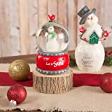 Pavilion Gift Company Red Snowman Musical Globe