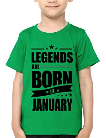 fccf4922c Mopixie 2018 Kids T-shirt Legends Are Born In January Funny Birthday Gift T  Shirt Boys/Girls Fashion Cool Printed Summer Tees Tops: Amazon.in: Clothing  & ...