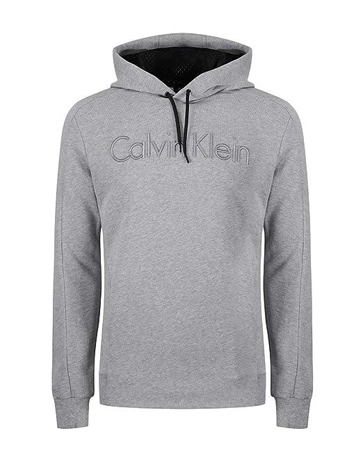 Calvin Klein - Sudadera con Capucha - para Hombre Gris Gris X-Large: Amazon.es: Ropa y accesorios