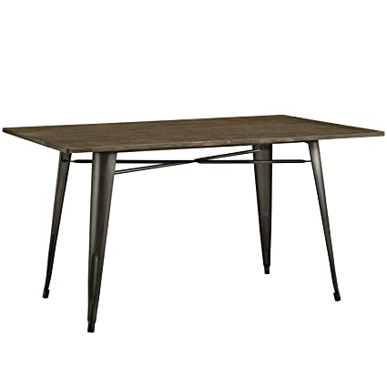 93f3ac7325b6 Amazon.com - Modway Alacrity Rectangle Wood Dining Table