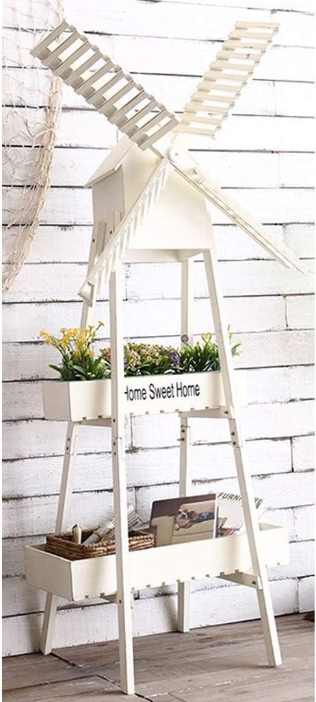 Soportes para plantas Jardinera Balcón Escalera de estante Exhibición Independiente Plegable De madera decorativa Jardín Flor Herb Maceta Estante De Almacenamiento De Plantas (Color : White) : Amazon.es: Hogar