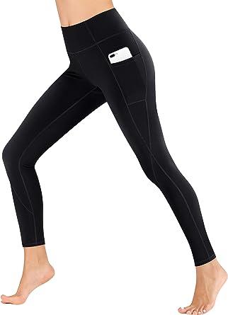 ** Women Yoga Pants Pockets Sport Fitness Athletic High Waist Workout Leggings *