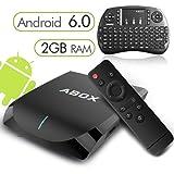 [Gratis Mini Tastiera Wireless] Android 6.0 TV Box 2GB/16GB, 2017 Modello GooBang Doo ABOX A2 Amlogic S905X 64 Bits Quad Core Smart TV Box Supporto Vero 4K Dual Band WiFi 2.4GHz/5GHz Bluetooth 4.0