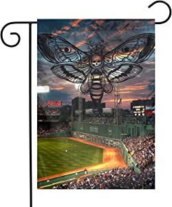 Fenway Park Boston Massachusetts Baseball Park Garden Flags House Indoor & Outdoor Welcome Decorations,Waterproof Polyester Yard Decorative for Game Family Party Banner