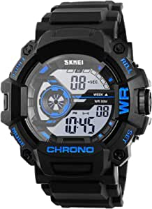 Digital Watch for Men Boys, Waterproof Military Watch with Calendar Chronograph Alarm Backlight Function, Sports Running Wrist Watch for Men Boys