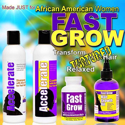 Grow Hair Longer With Fast Grow Black Hair Growth Vitamins