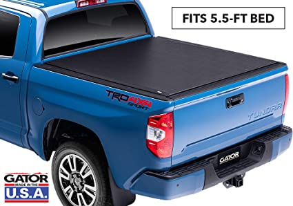 Tundra Bed Cover >> Gator Etx Soft Roll Up Truck Bed Tonneau Cover 53412 Fits 07 19 Toyota Tundra With Track System 5 6 Bed Made In The Usa