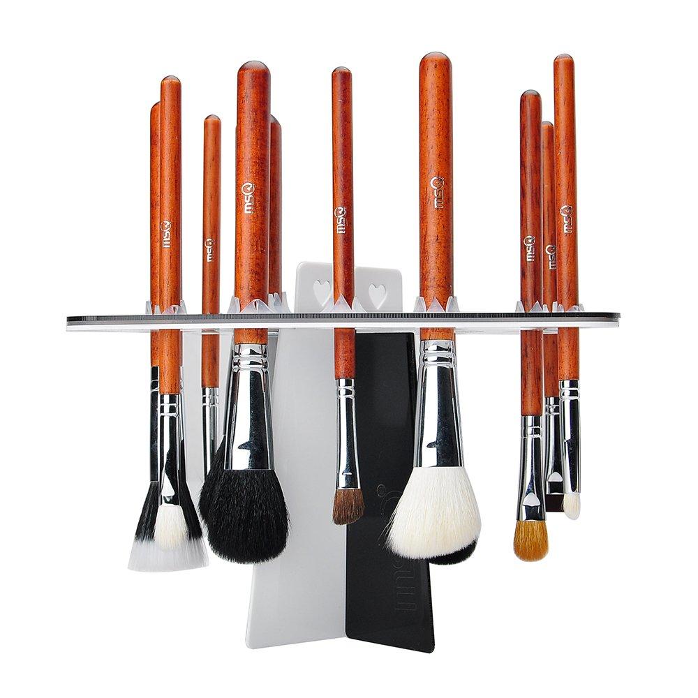 MSQ 26 Hole Makeup Brush Tree Holder Folding Collapsible Air Drying Rack Organizer Brush Shelf Tools Tower Brush Dryer
