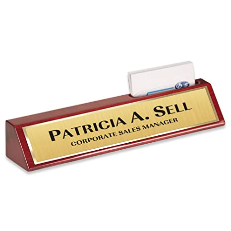 Amazon name plate rosewood with business card holder desk name name plate rosewood with business card holder desk name bar personalized custom 10 colourmoves