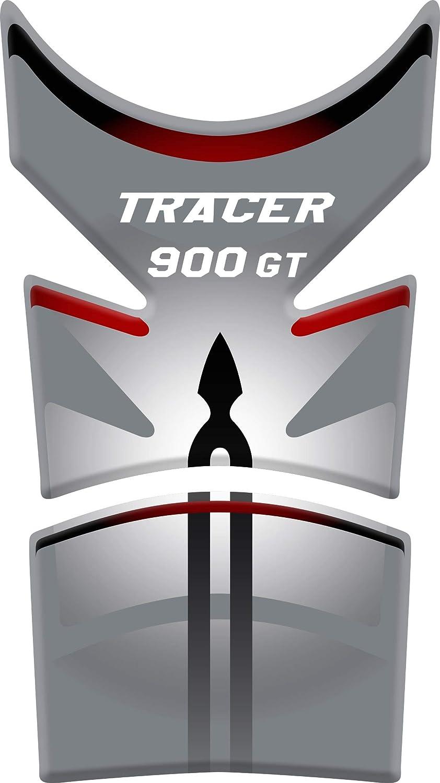 RESINATO EFFETTO 3D compatibile con Yamaha Tracer 900GT Bianco//Rosso PARASERBATOIO ADESIVO
