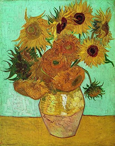 Perfect Effect Canvas ,the Imitations Art DecorativePrints On Canvas Of Oil Painting 'Sunflowers-Vincent Van Gogh,1888', 10x13 Inch / 25x32 Cm Is Best For Hallway Decoration And Home Artwork And (Halloween Color By Number Printable Worksheets)