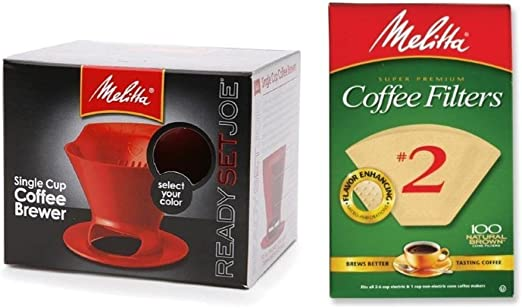 Amazon.com: Melitta - Juego de cafetera de cono y filtro #2 ...
