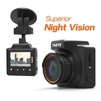ThiEYE Camara Coche Safeel One 1296P Dash Camera DVR Cámara Registrador Vídeo con Visión Nocturna,