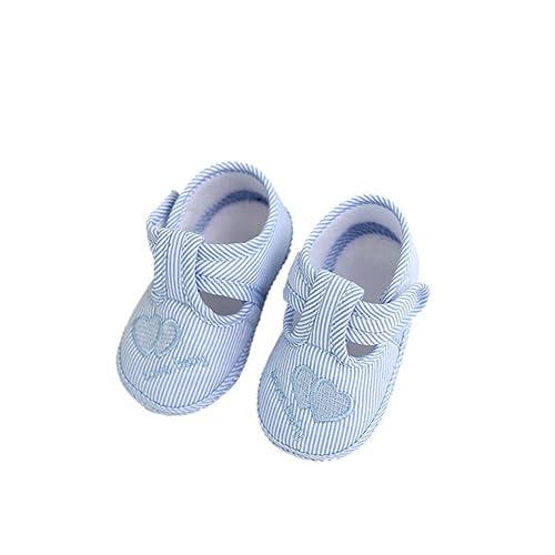 super popular 7bdd8 31ecf BYSTE Scarpe da Bambino Sneaker Stoffa Anti Scivolo Fondo Morbido Scarpe  per Bambini Neonato Ballerine Piatto Scarpine Primi Passi 0-10 Mesi