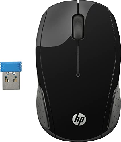 f949bf8d4d2 Amazon.in: Buy HP 200 Wireless Mouse (Black) Online at Low Prices in India  | HP Reviews & Ratings