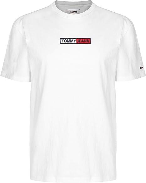 Camiseta Manga Corta para Hombre Tommy Jeans Embroidered Box Logo 7868-YBR (Small): Amazon.es: Ropa y accesorios