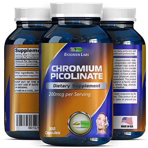 200 mcg Chromium Picolinate Metabolism Supplement - Chromium